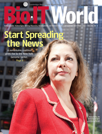 Ms. Kelley on the cover of BioIT World